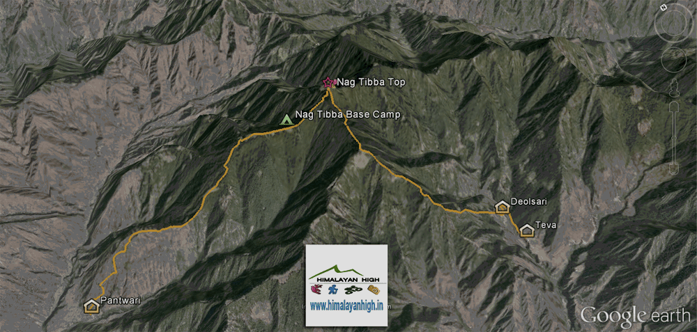 Nagtibba Trek Route Map