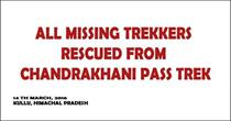 8 Missing Trekkers Rescued From Chandrakhani Pass