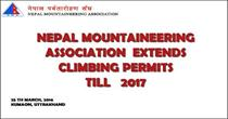 Nepal Mountaineering Association Extends Climbing Permits Till 2017