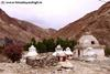 day3 photo - small old chortens near skiu on markha trek