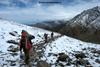 the trail to roopkund from baghuabasa