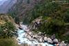 bhaghirathi river gushing down the valley